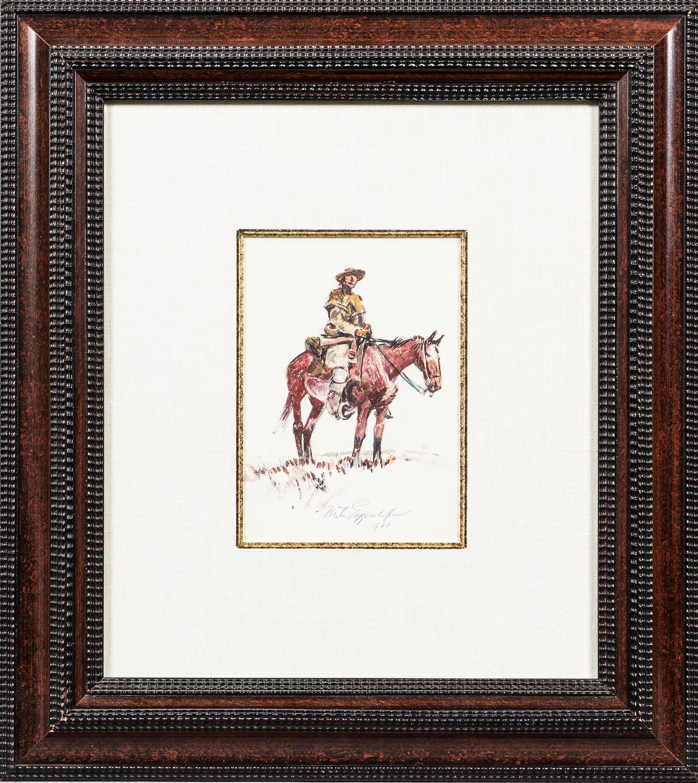 Nick Eggenhofer (American, 1897-1985)      Mounted Cowboy