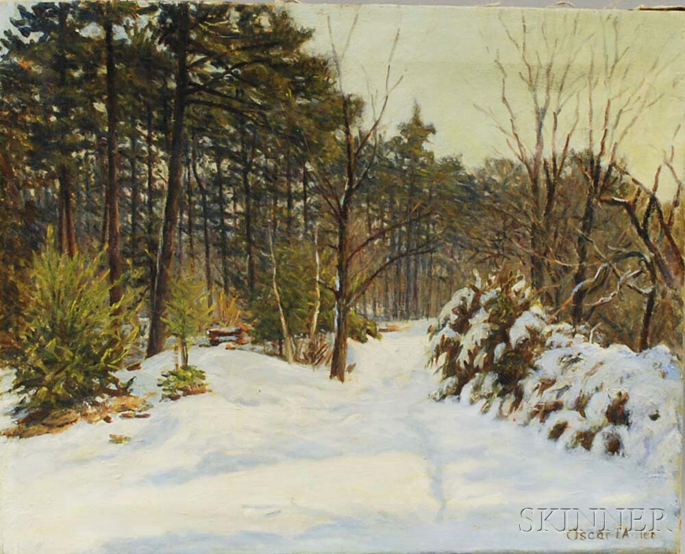 Oscar F. Adler (Massachusetts, 1868-1932)       Winter Landscape.