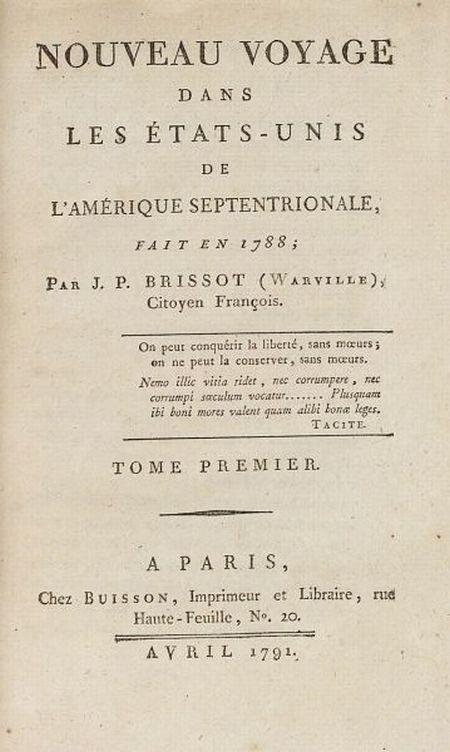 Brissot de Warville, Jacques-Pierre (1754-1793)