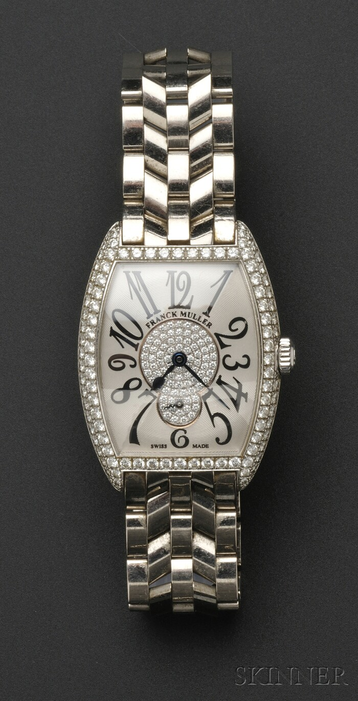 Lady's 18kt White Gold and Diamond Wristwatch, Franck Muller