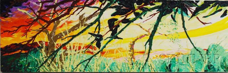 Donald Munson (American, 20th/21st Century)      Tuzigoot Ruins, Summer