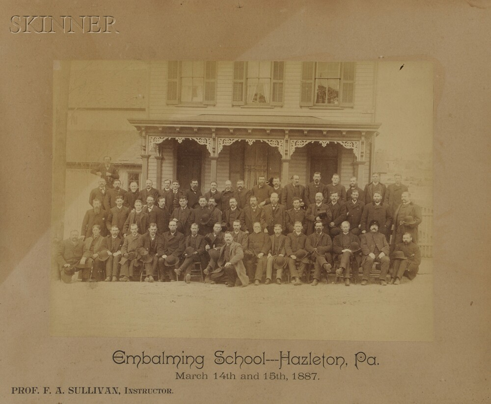 American School, 19th/20th Century      Four Vernacular Photographs:   Embalming School Group Portrait, Hazelton, Pennsylvania
