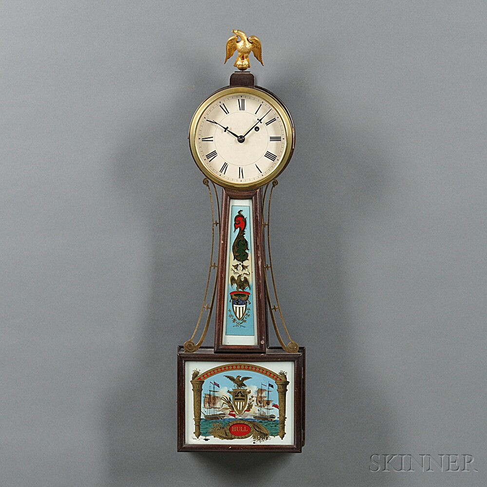 "Herschede Hall Clock Co. ""Banjo"" Clock"