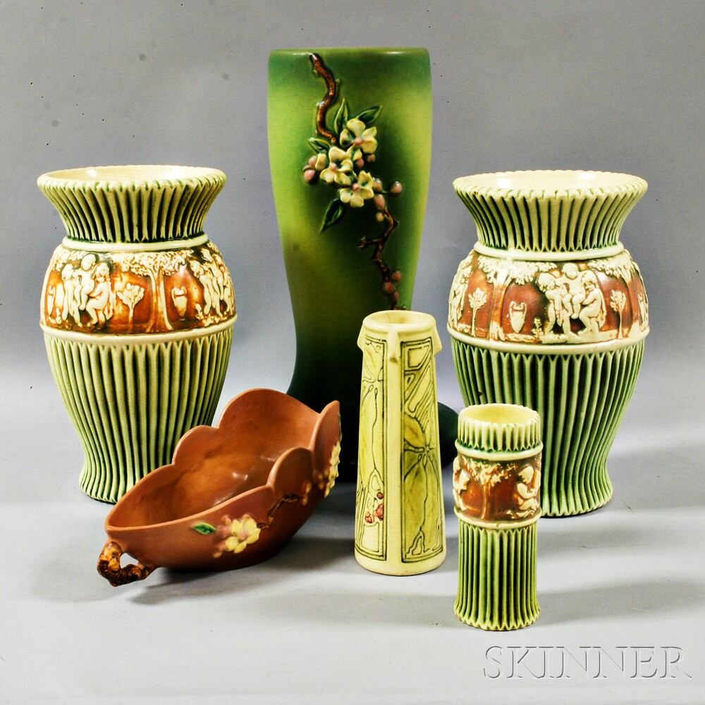 Six Art Pottery Vessels