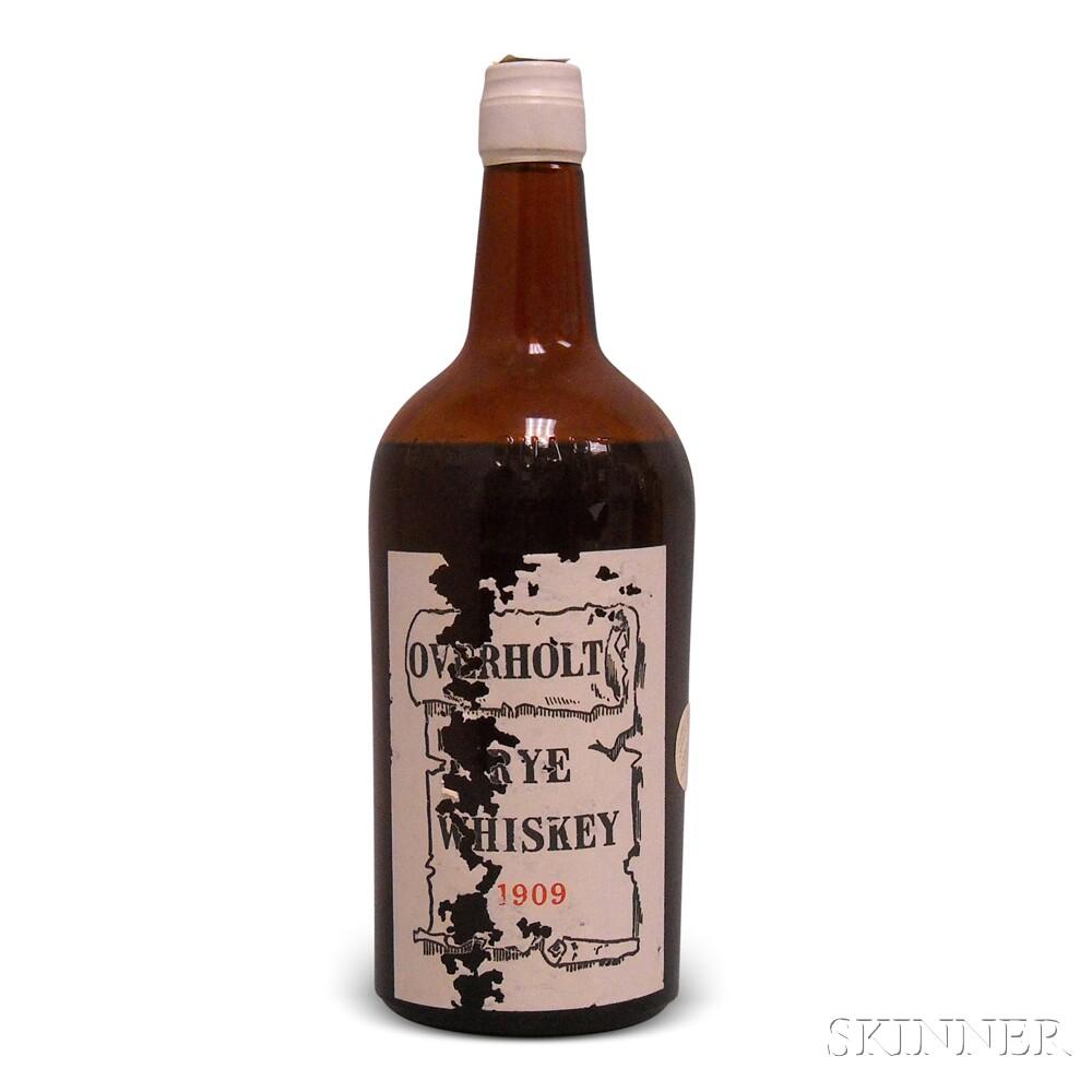 Overholt Rye Whiskey 1909, 1 4/5 quart bottle