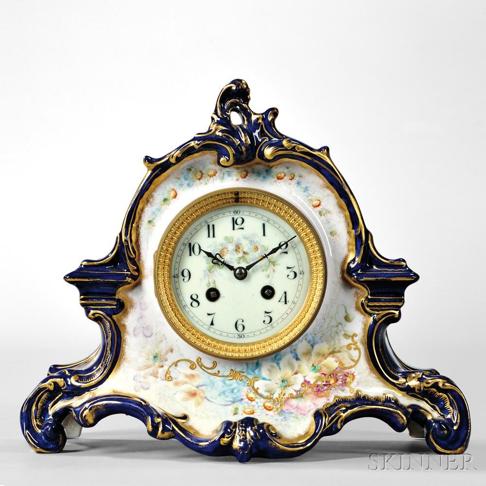 Cobalt Blue China Case Clock