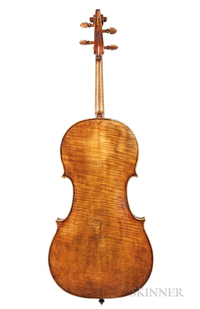 French Violoncello, Probably Didier Nicholas, c. 1830