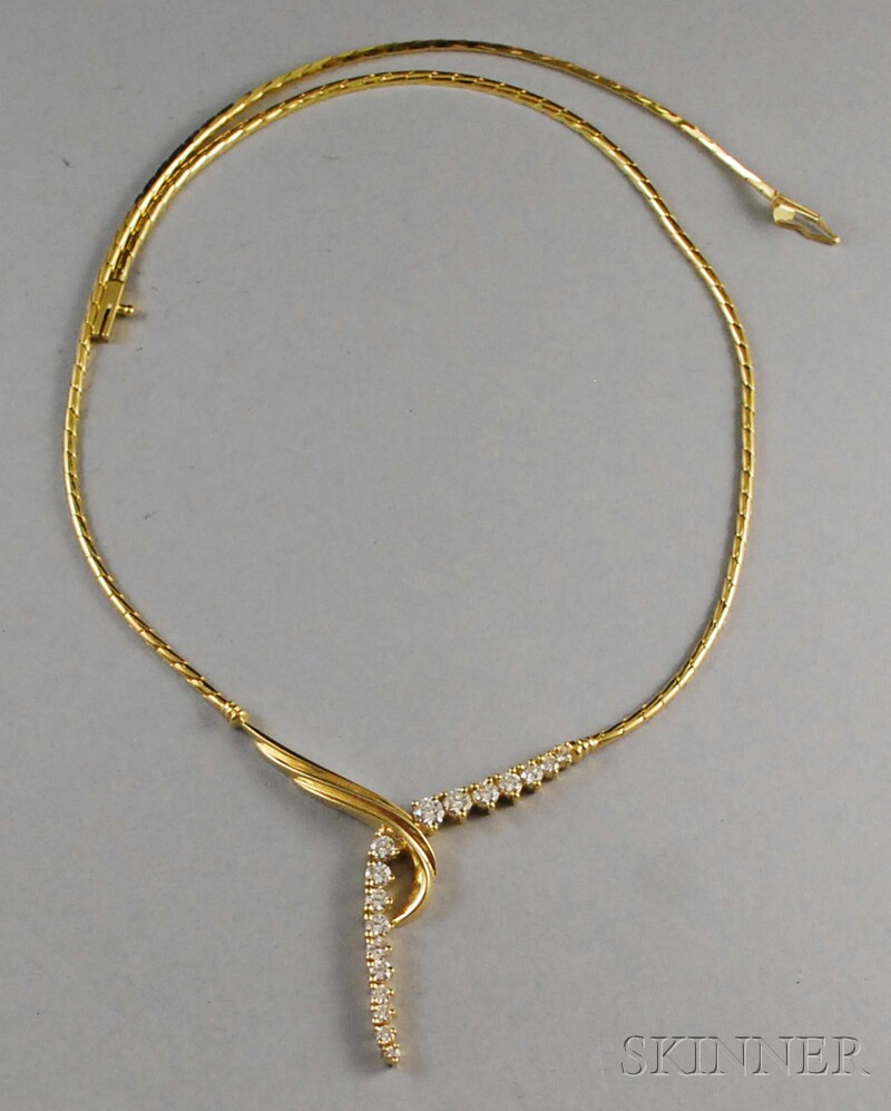 14kt Gold and Diamond Necklace, Jose Hess