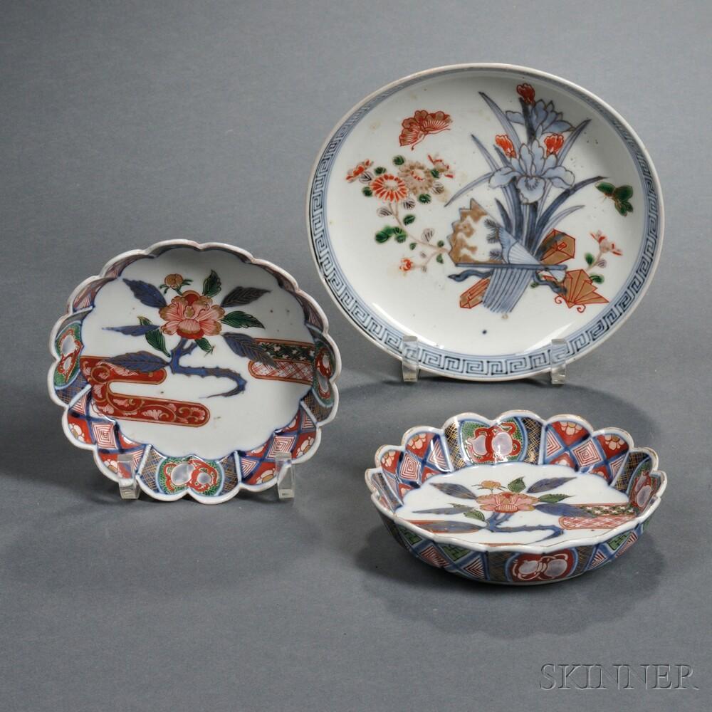 Three Imari Dishes