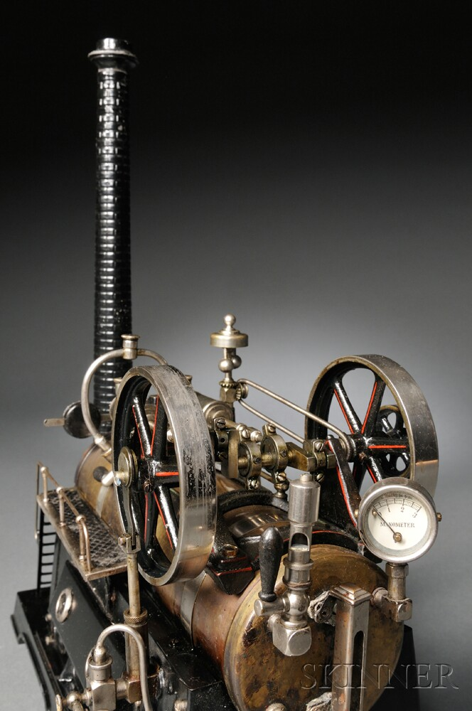 Working Model of a Two-cylinder Horizontal Steam Engine