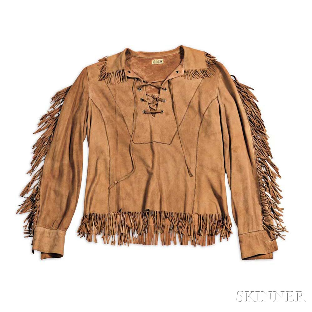 Little Jimmy Dickens     Brown Suede Lace-up Shirt