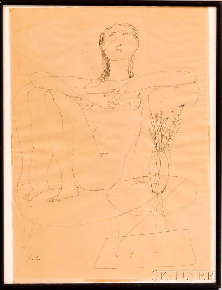 Lajos Szalay (Hungarian/Argentinian, 1919-1995)      Seated Nude