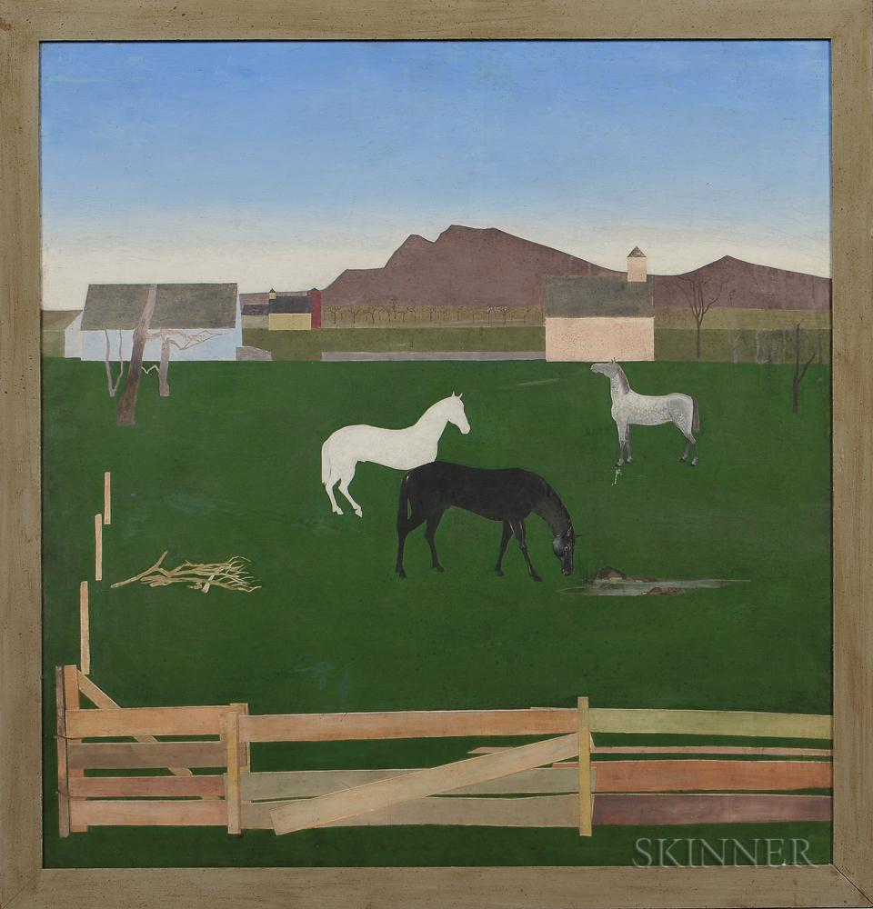 Stefan Hirsch stefan hirsch york 1899 1964 horses in a pasture sale number 3038b lot number 343