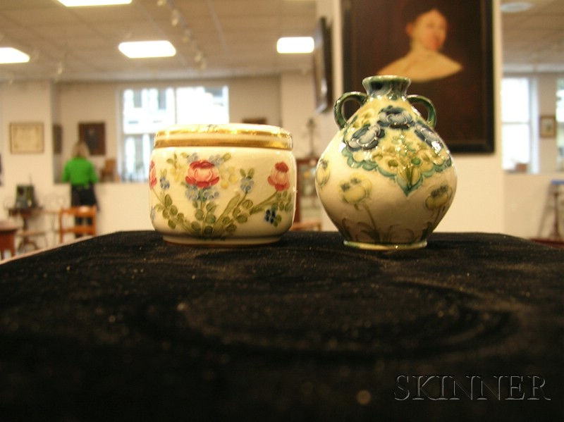 Two Small Moorcroft Floral Decorated Items