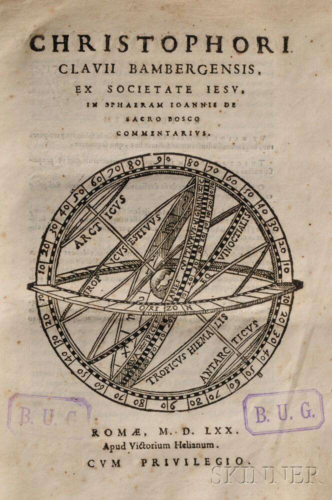 Clavius, Christoph (1538-1612) In Sphaeram Ioannis de Sacro Bosco Commentarius.