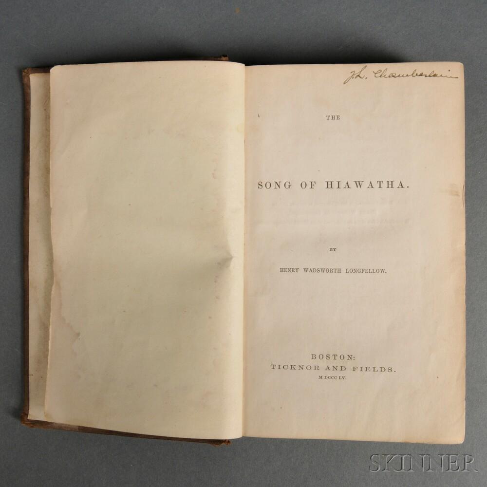 Joshua Lawrence Chamberlain Signed Copy of The Song of Hiawatha