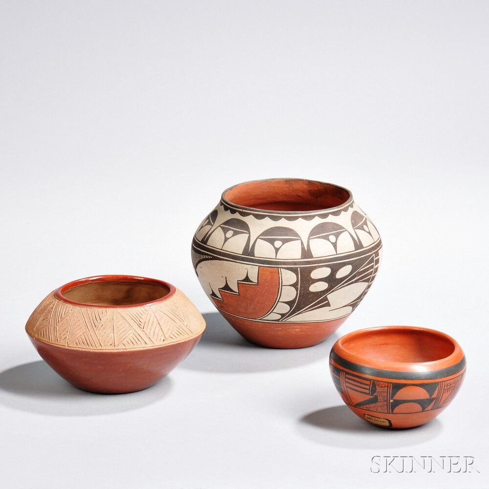 Three Southwest Pottery Bowls