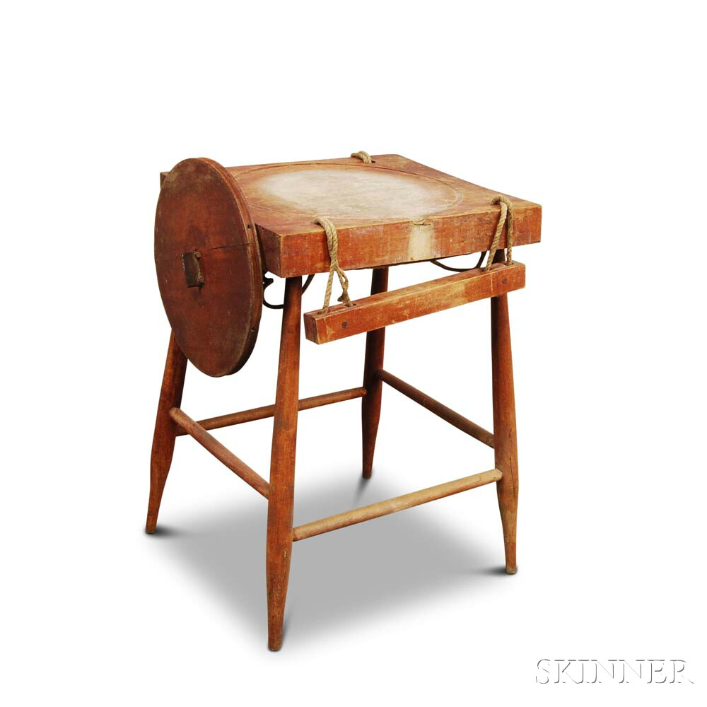 Shaker Red-stained Maple Cheese Press