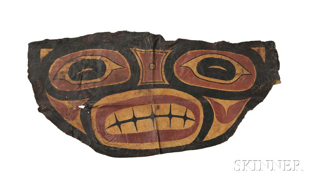 Tlingit Painted Hide Shaman's Apron