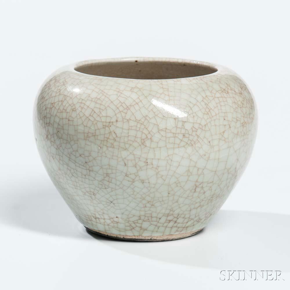 Crackle-glazed Jar