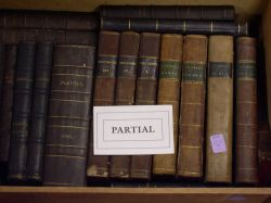 Miscellaneous Collection of Mostly Leather-bound Titles