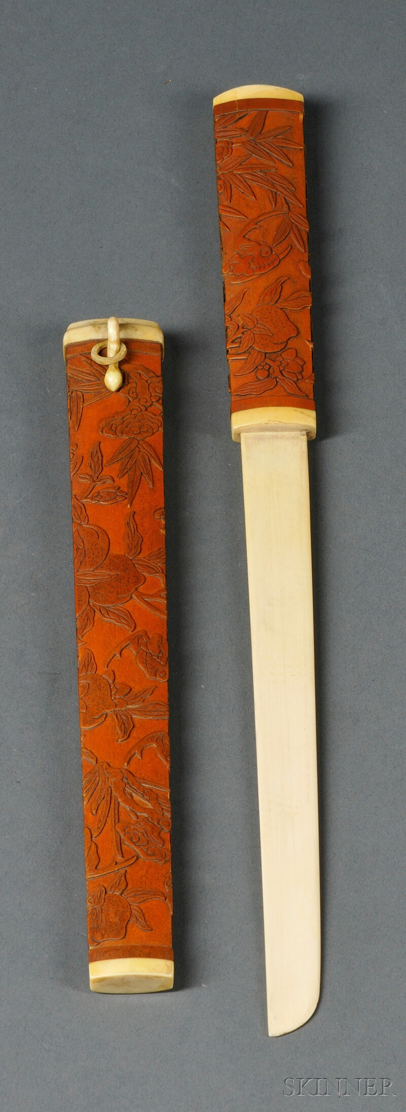Bamboo and Ivory Knife