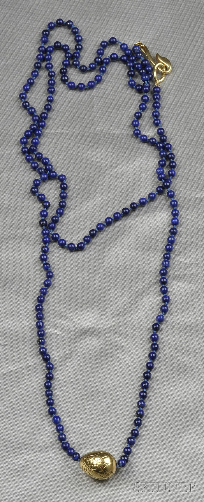 18kt Gold and Lapis Bead Necklace, Angela Cummings