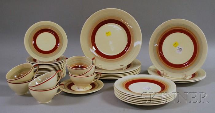 Forty-piece Susie Cooper Ceramic Partial Dinner Service.