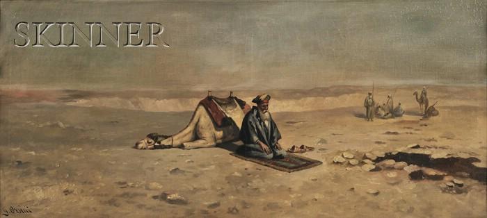 Giustina Orsini (Italian, Late 19th Century)      Prayer in the Desert