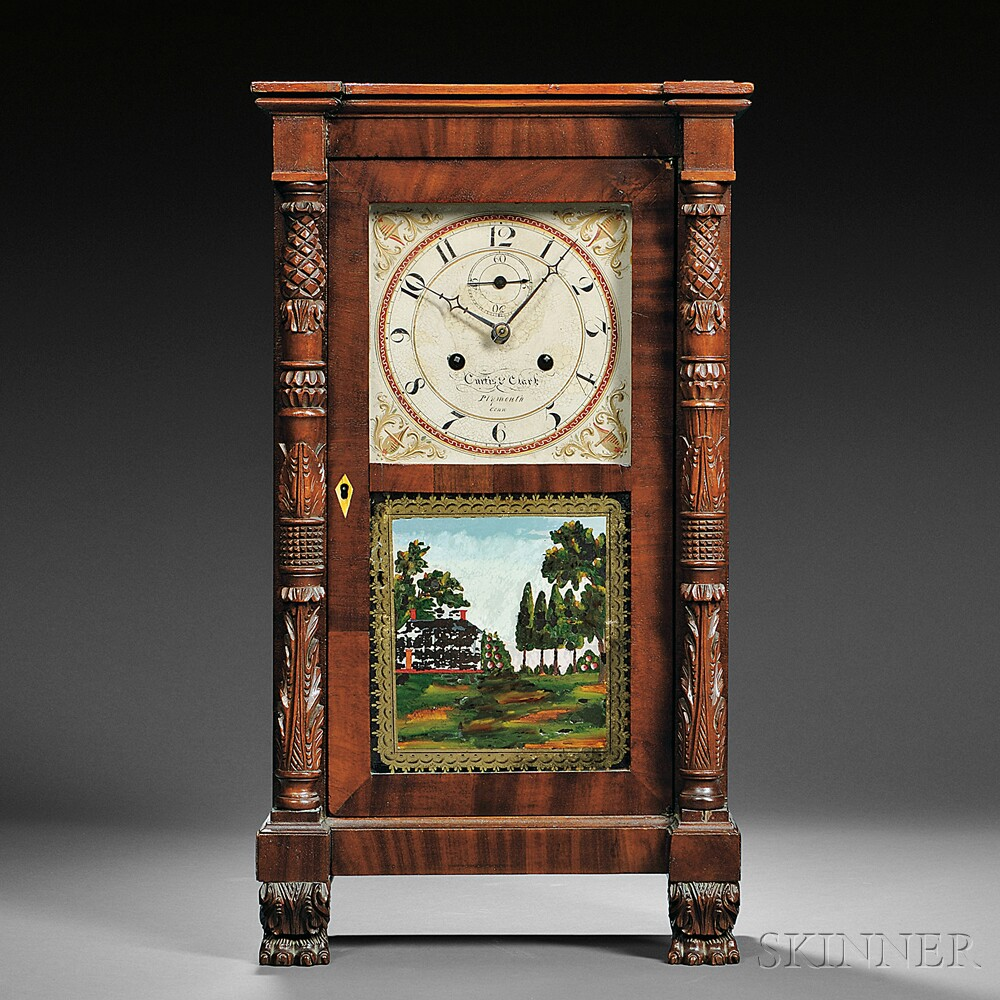 Curtis & Clark Miniature Salem Bridge Shelf Clock