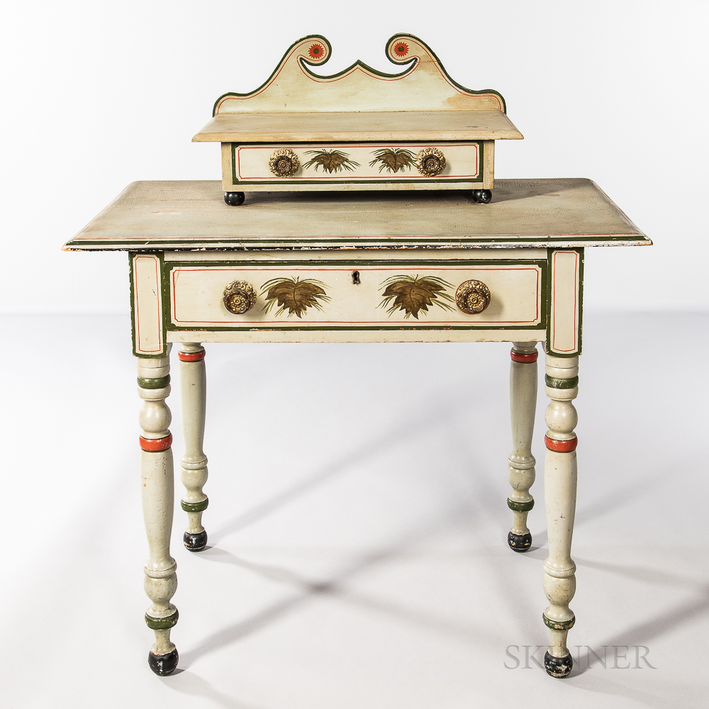 Light Grey/green-painted Dressing Table
