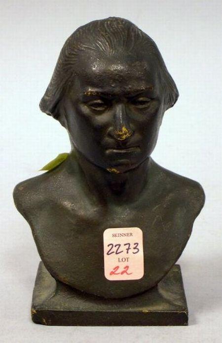Cast Iron Bust of George Washington.
