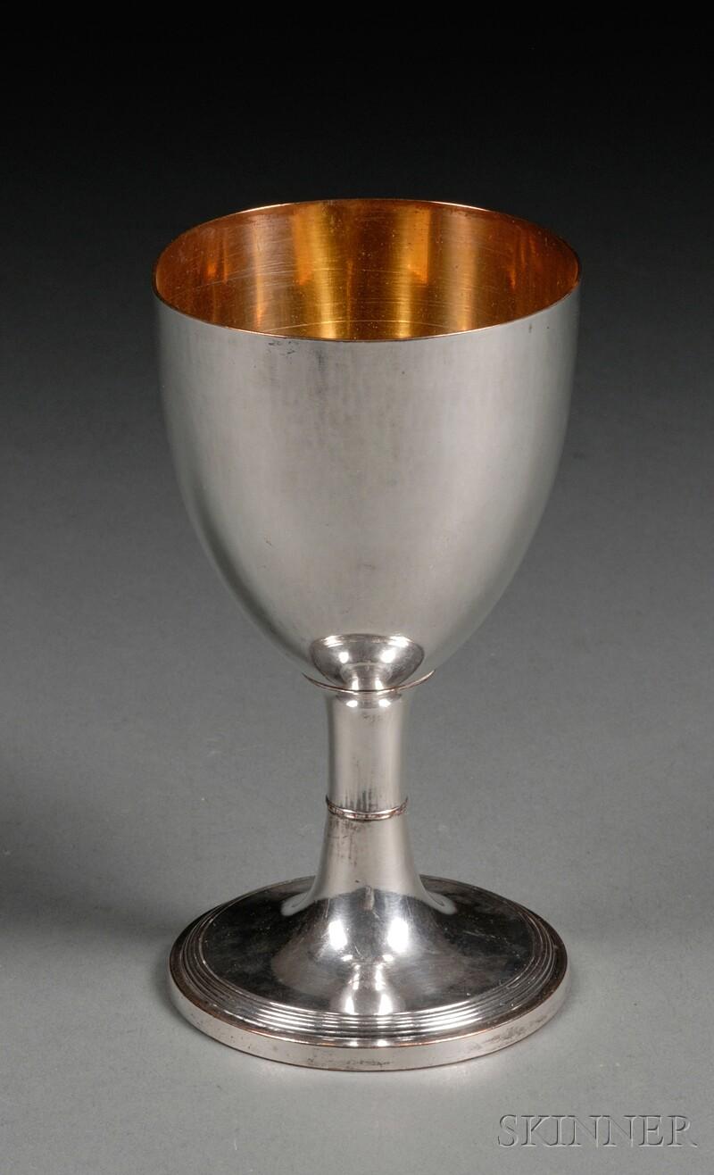 George III/IV Sheffield Plate Goblet