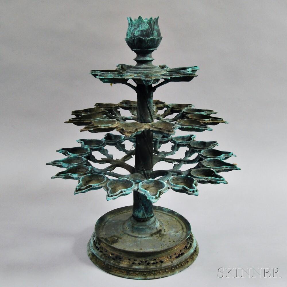 Standing Oil Lamp