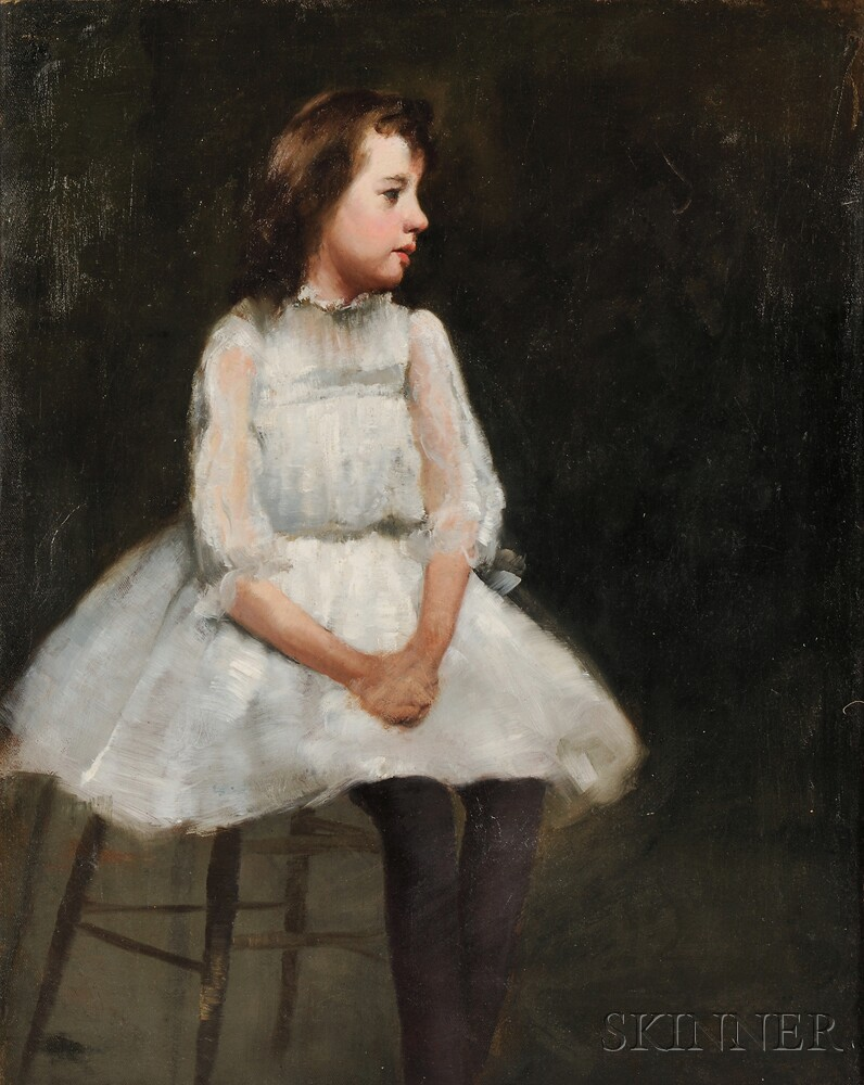 Joseph Rodefer DeCamp (American, 1858-1923)      Portrait of the Artist's Daughter Pauline