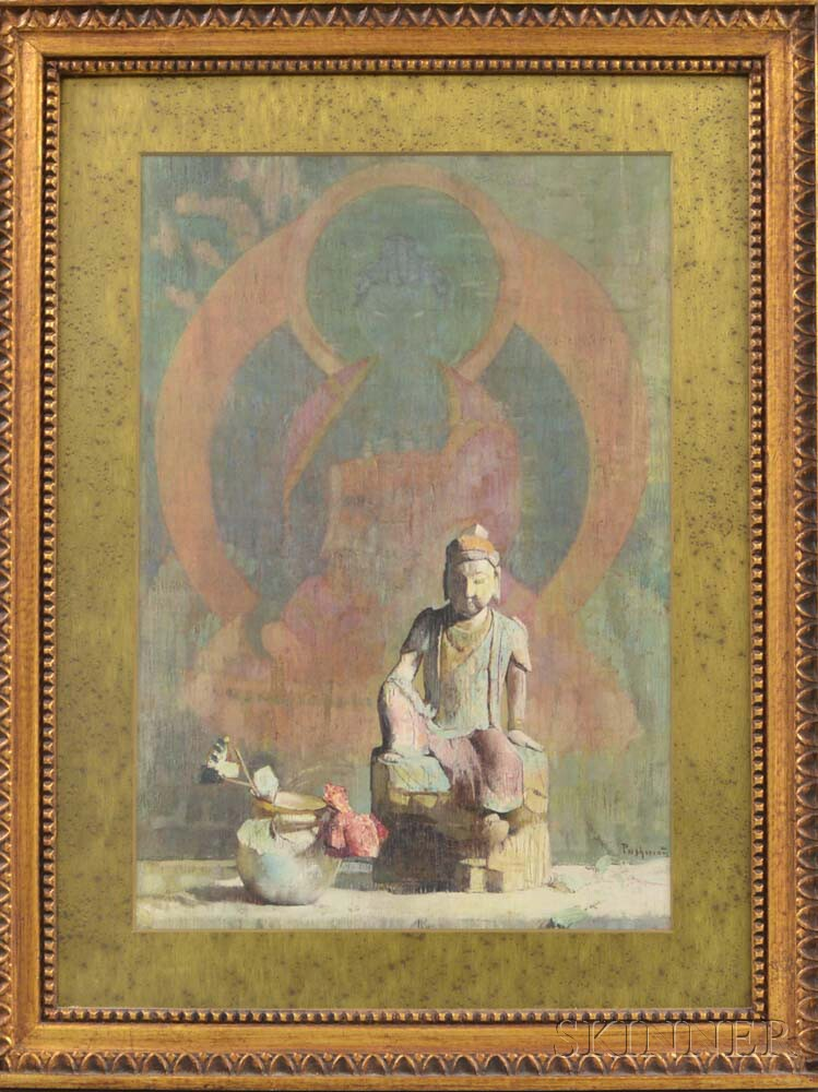Two Framed Prints of Buddha After Hovsep Pushman