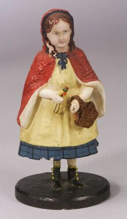 Small Movable Papier-mache Little Red Riding Hood