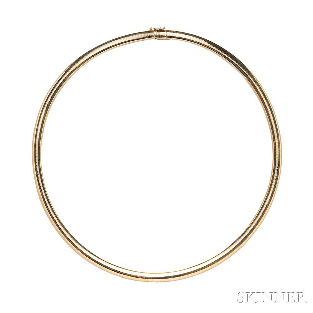 14kt Gold Omega Neck Chain