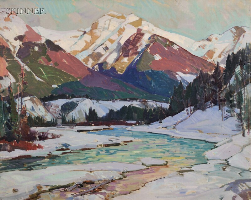 Aldro Thompson Hibbard (American, 1886-1972)      River and Mountains