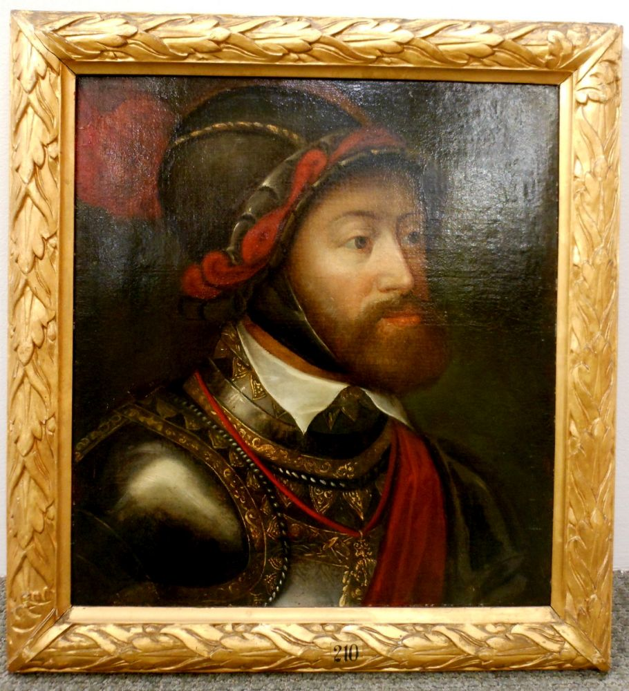 After Tiziano Vecelli, called Titian (Italian, c. 1485-1576)      Portrait Head of Charles V at Battle of Muehlberg