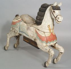 Carved  and Painted Wooden Carousel Horse