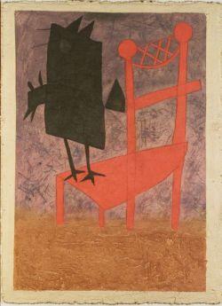 Teodulo Romulo (Mexican, b. 1943)  Silla Con Pajarro