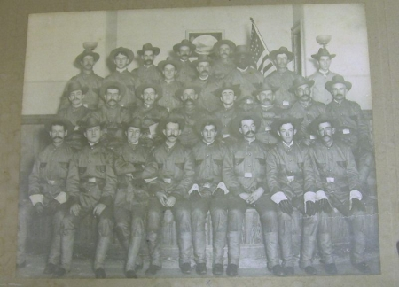 Framed Albumen Photograph Depicting The Rough Riders