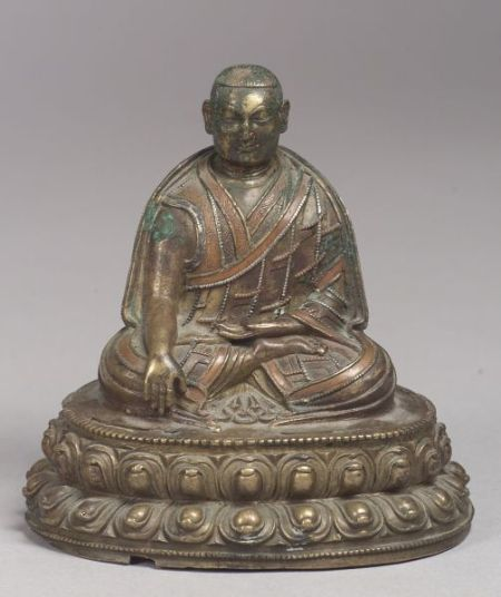 Bronze Image of a Monk