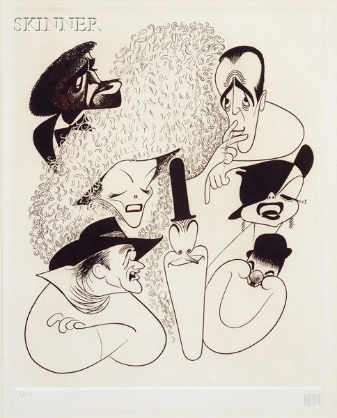Albert Hirschfeld (American, 1903-2003)      Hollywood