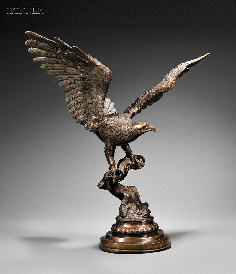 American School, 20th Century      Eagle Perched with Outstretched Wings.
