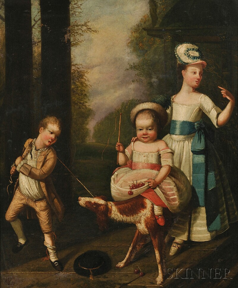 Continental School, 18th Century      Children at Play After Cherry Picking