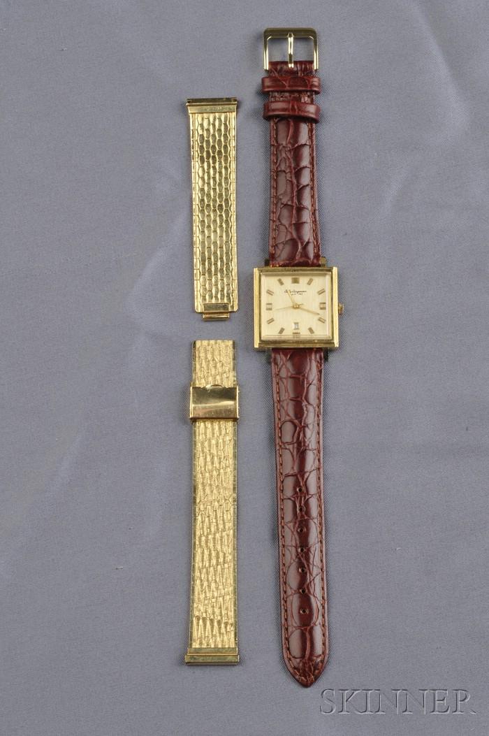 18kt Gold Wristwatch, Jules Jurgensen