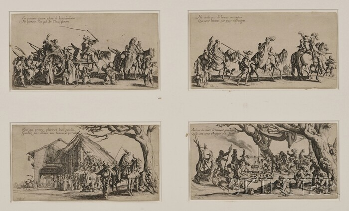 Jacques Callot (French, 1592-1635)      Set of Four Cavalcades