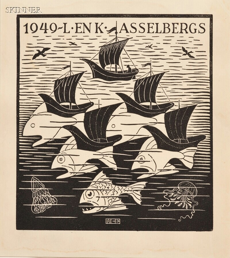 M. C. Escher (Dutch, 1898-1972)      New Year's Greeting Card 1949, L & K Asselbergs